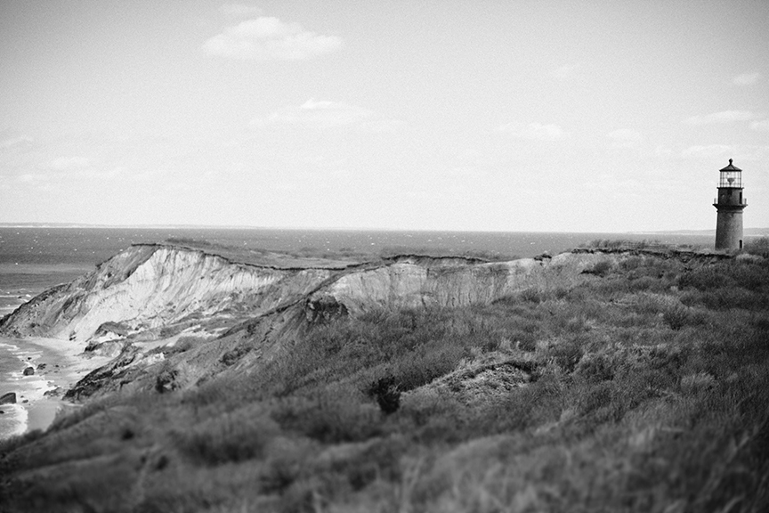 Martha's Vineyard cliffs and lighthouse