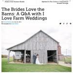 Emily Walen, editor-in-chief of I Love Farm Weddings, featured on Modern Farmer Magazine blog