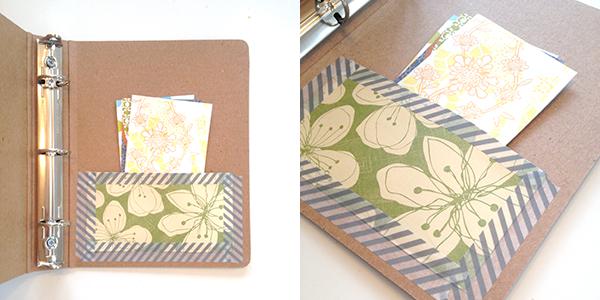 Washi tape binder pocket