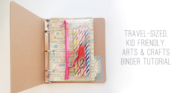 Kraft board mini binder for kids arts and crafts
