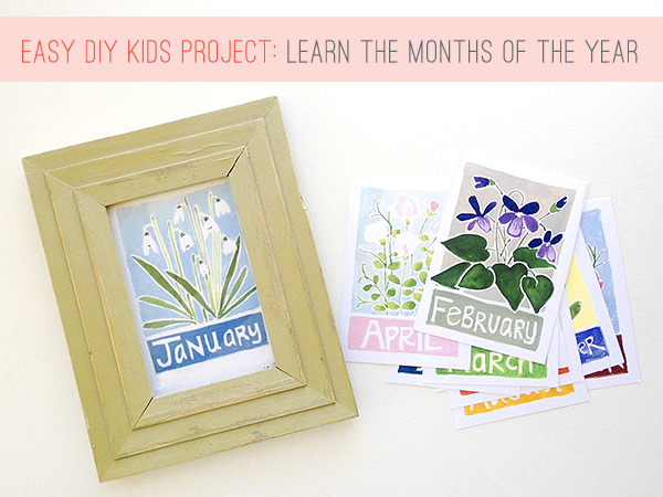 free kids project to learn the months of the year